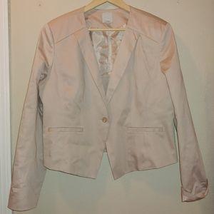 Women's Halogen Blush Blazer Jacket Cropped pink